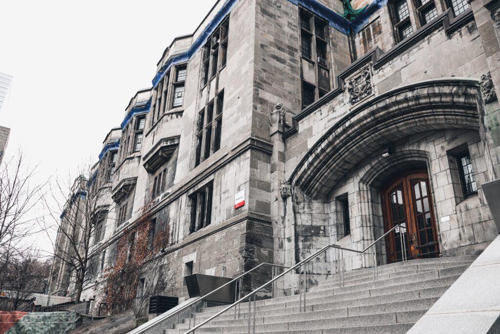 Façade de l'Université McGill