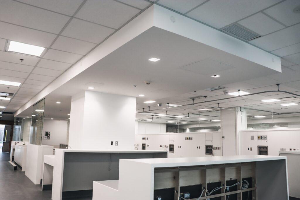 Bureaux de l'hôpital Maisonneuve-Rosemont réalisation d'Humaco Acoustique Montréal